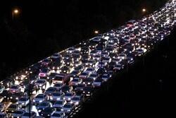 ترافیک نیمهسنگین در آزادراه تهران - کرج