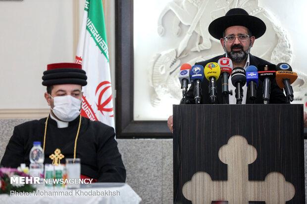 زعماء الاقليات الدينية في ايران يدينون تصريحات السلطات الفرنسية وماكرون بشأن النبي (ص)