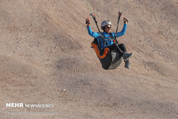 Autumn attracting Skydivers to Yazd