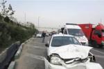 تصادف زنجیره ای خودروها در محور همدان - ملایر ۲ مجروح برجای گذاشت