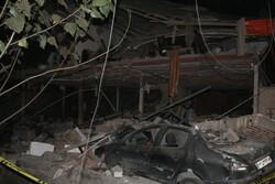 تخریب یک واحد مسکونی دو طبقه براثر آتش سوزی در قائمشهر