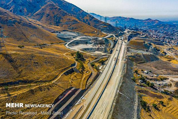 Northern ring road of Karaj under construction