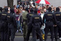 پلیس بلاروس بیش از ۳۰ تن از معترضان را بازداشت کرد
