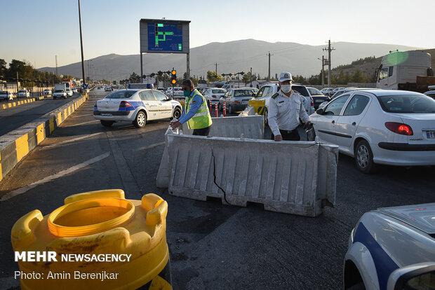 اعمال محدودیت تردد در ورودی شهر شیراز