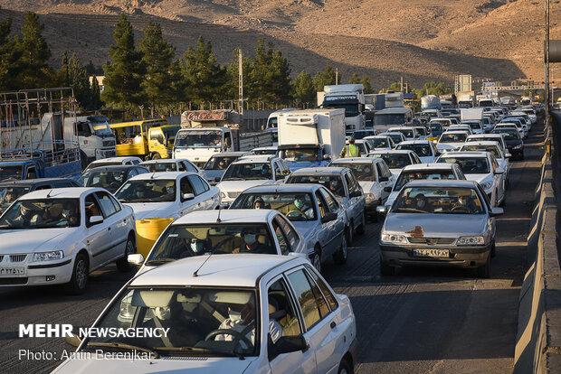 افزایش خروج و کاهش ورود وسایل نقلیه به استان تهران طی روز گذشته