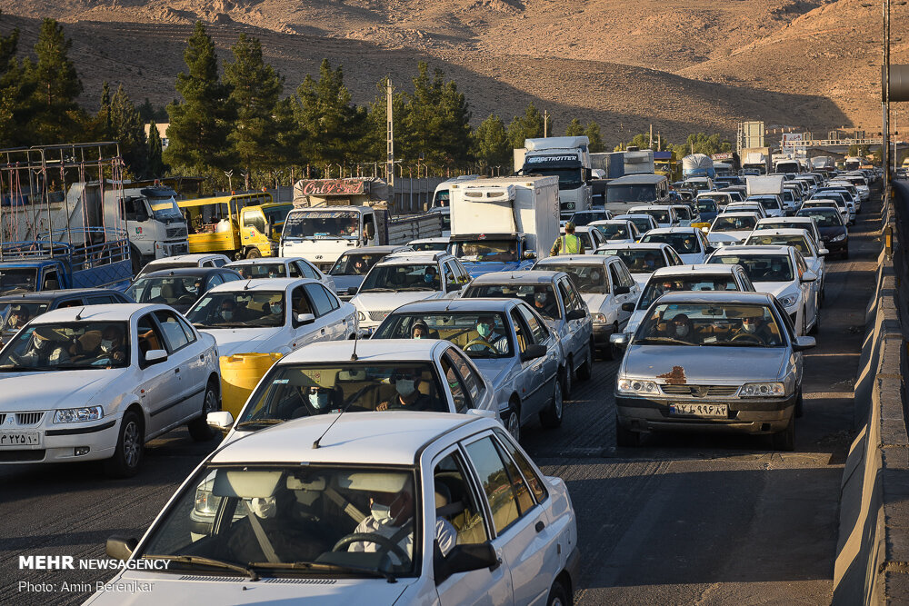 بیش از ۱۵ میلیون خودرو در محورهای خوزستان تردد داشتند