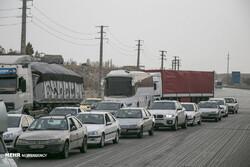 تردد در جادههای اصفهان ۶۴ درصد افزایش یافت