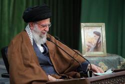 Ayatollah Khamenei delivering live speech