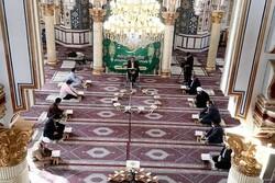 مراسم جشن و مولودی در مسجد شافعی کرمانشاه