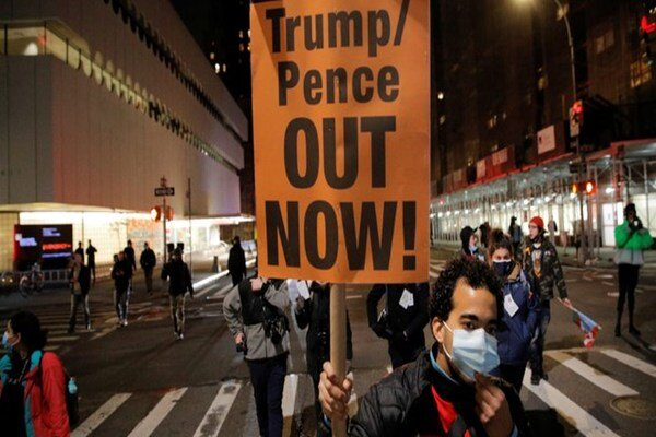 Protesters Gather in DC As Presidential Election Results Arrive