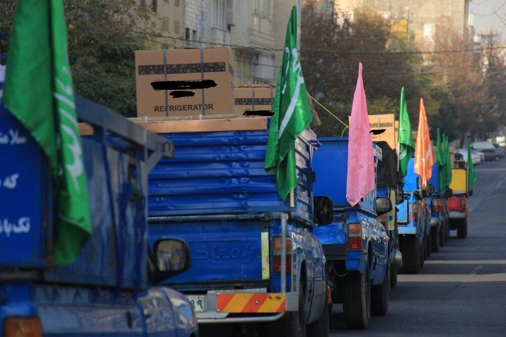 تامین ۴۰ دست جهیزیه برای خانواده های نیازمند توسط گروههای جهادی