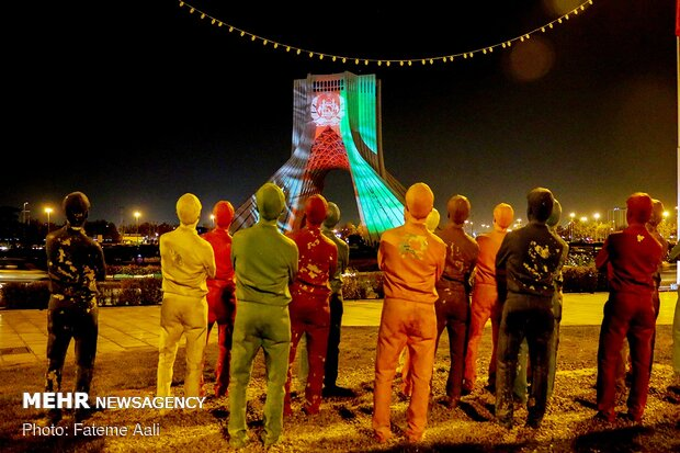Azadi Tower lights up in solidarity with Afghanistan