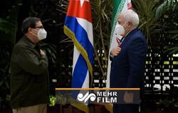 ایرانی وزیر خارجہ کی کیوبا کے وزير خارجہ سے ملاقات