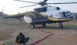 اعزام بالگردهای سپاه و هلال احمر برای اطفای حریق جنگلهای گلستان