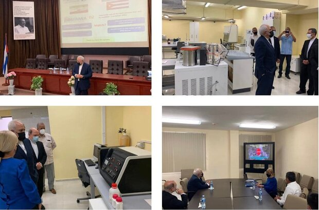 FM Zarif visits two medical centers in Cuba