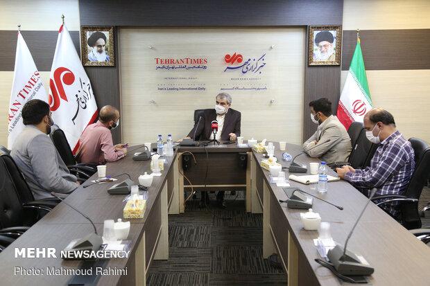 Guardian Council spox. visits MNA & Tehran Times HQs