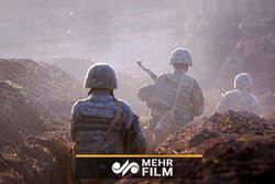شہر شوشا کے شمال میں آذربائیجان اور آرمینیا کے فوجیوں کے درمیان جنگ جاری