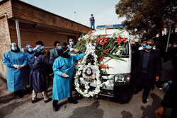 ہمدان میں شہید مدافع سلامت گلنار قیامتی کی تشییع جنازہ
