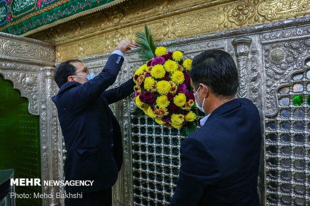 Preparing Hazrat Masumeh shrine for birth anniv.