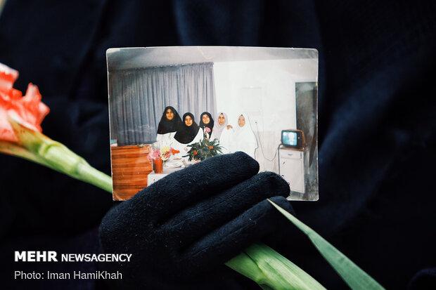 مراسم تشییع پیکر گلنار قیامتی شهید مدافع سلامت -  همدان