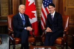 نخست وزیر کانادا با «جو بایدن» پیرامون شیوع کرونا و تغییرات اقلیمی گفتگو کرد