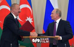 Putin ile Aliyev'in anlaşmayı imzalama anı