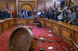 Protests in Armenian Parliament