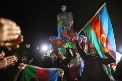 شادی مردم آذربایجان پس از اعلام آتش بس
