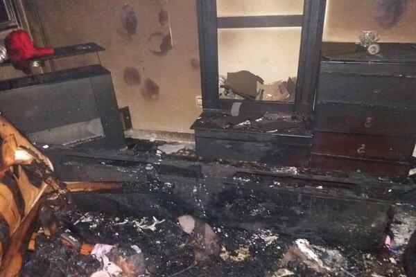 نجات جان ۱۷ شهروند در حادثه آتش سوزی یک مجتمع مسکونی در همدان