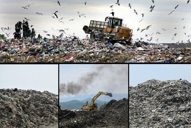 بحران زباله در شمال ایران/ دفن جنگل زیرِ کوه پسماند!