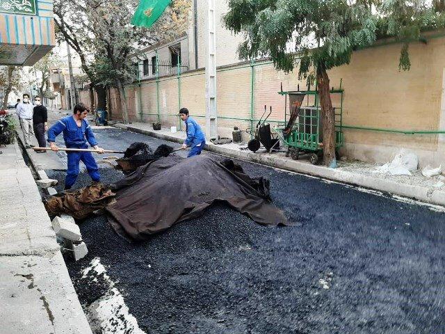 پیشرفت ۵۰ درصدی طرح مرمت معابر شهر تهران