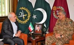 ایرانی وزیر خارجہ ظریف کی پاکستانی فوج کے سربراہ جنرل باجوہ سے ملاقات