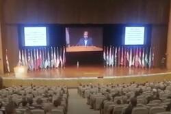 """جانب من كلمة """"علي أصغر خاجي"""" خلال مؤتمر اللاجئين في دمشق"""