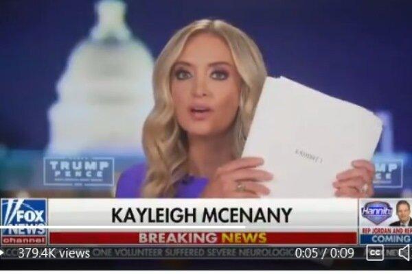 کاخ سفید: برای اثبات تقلب، ۲۳۴ صفحه مدرک داریم