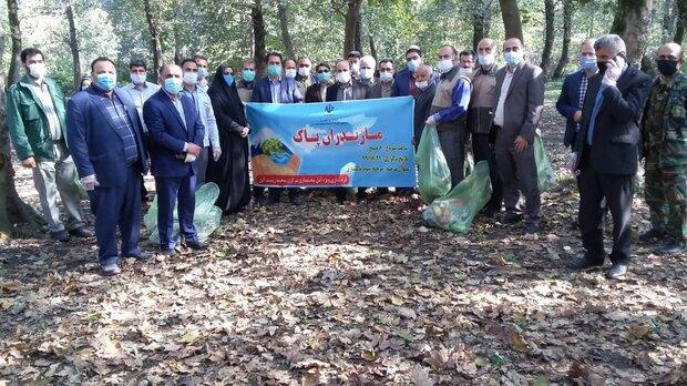 اجرای طرح نمادین «مازندران پاک» در آمل