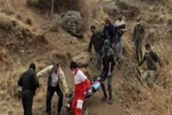 سقوط آقای ۲۹ ساله به درهای در ارتفاعات شهر آبعلی