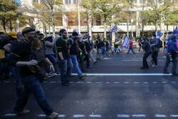 Clash erupts between extremists in Washington
