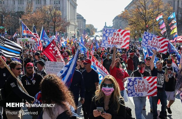Trump supporters protest results of presidential elections