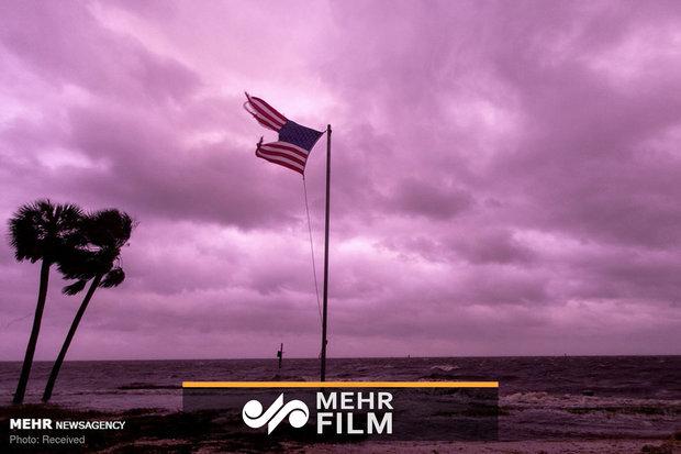 VIDEO: Tropical Storm Eta turns southeast Florida sky purple