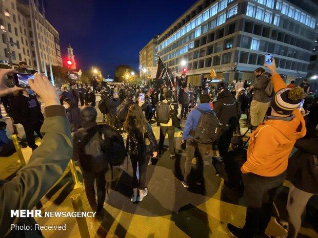 درگیری حامیان و مخالفان ترامپ در پایتخت آمریکا
