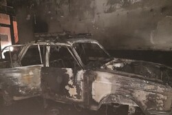 آتش سوزی یک باب کلینیک خودرو در تبریز