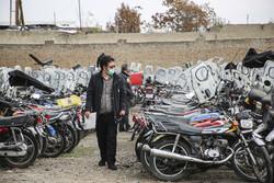 ترخیص موتورسیکلت های رسوبی در تعطیلات کرونایی ادامه دارد