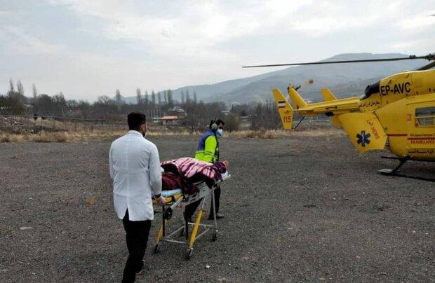 نجات جان ۲ بیمار قلبی توسط اورژانس هوایی البرز