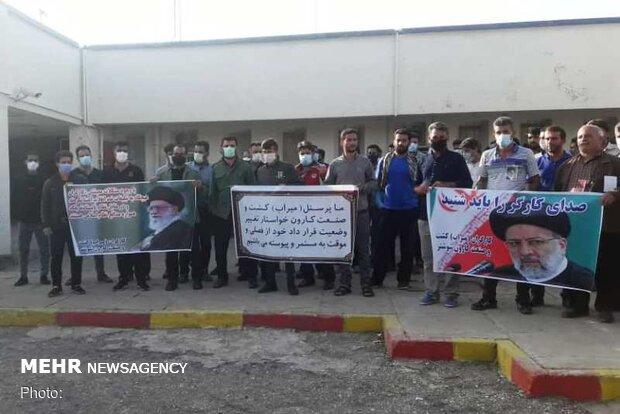 کارکنان آبفار خوزستان همچنان پیگیر مطالبات معیشتی خود هستند