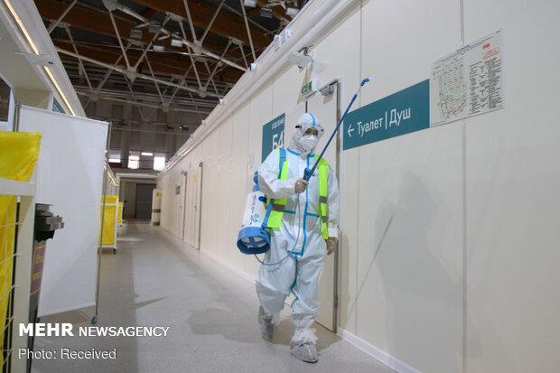Moskova'da koronavirüs hastalarına geçici olarak hastane kuruldu