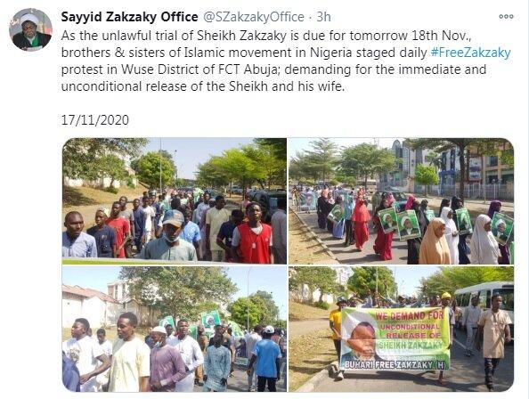 3604750 » مجله اینترنتی کوشا » طرفداران شیخ زکزاکی تظاهرات اعتراضآمیزی در نیجریه برگزار کردند 1