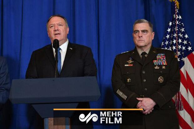 هشدار مارک میلی و پمپئو به ترامپ در رابطه با حمله به ایران