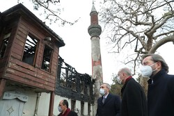 Erdoğan tarihi Vaniköy Camisi'nde incelemede bulundu