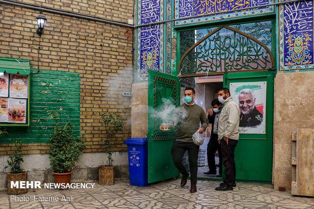 غربالگری خانه به خانه در محله هرندی تهران