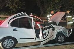 یک کشته و سه زخمی در حادثه واژگونی تیبا در کرمانشاه